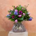 """Bolsas de agua ALFABIA """"Flores variadas tonos rosas malvas"""""""